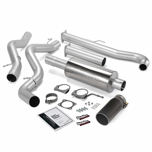 Monster Exhaust System; S/S-Black Tip-2001-04 Chevy 6.6L Ec/Ccsb