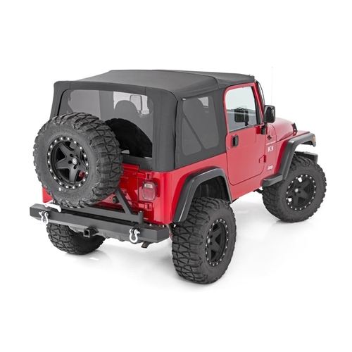 Full Steel Doors RC85020.35 1997-2006 Jeep Wrangler TJ Rough Country Replacement Soft Top fits